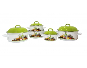 10 PC TRENDY (OLIVE OIL) WHITE COVER