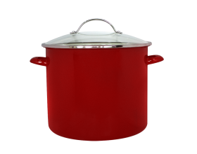 8QT STOCK POT - RED